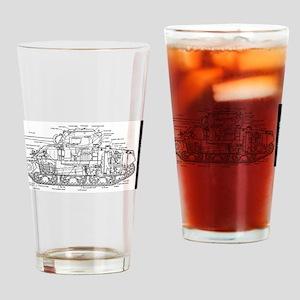M4 SHERMAN CUTAWAY Drinking Glass