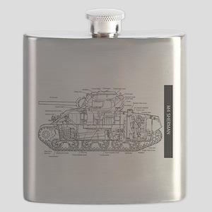 M4 SHERMAN CUTAWAY Flask