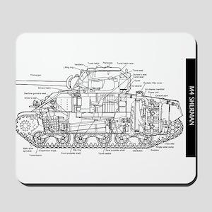 M4 SHERMAN CUTAWAY Mousepad