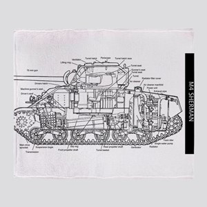 M4 SHERMAN CUTAWAY Throw Blanket