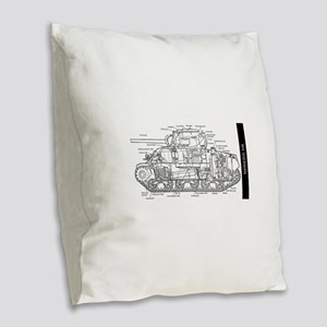 M4 SHERMAN CUTAWAY Burlap Throw Pillow