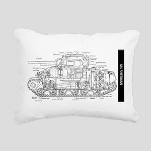 M4 SHERMAN CUTAWAY Rectangular Canvas Pillow