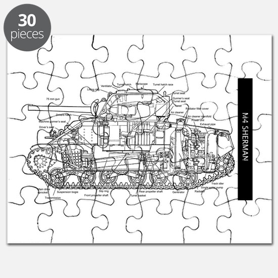 M4 SHERMAN CUTAWAY Puzzle
