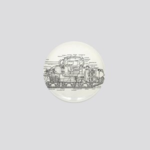 M4 SHERMAN CUTAWAY Mini Button