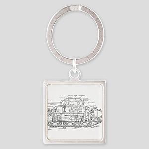 M4 SHERMAN CUTAWAY Keychains