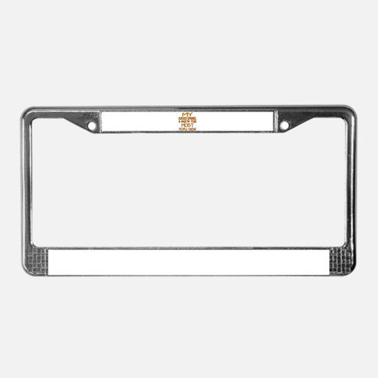 My Sussex Spaniel is smarter License Plate Frame