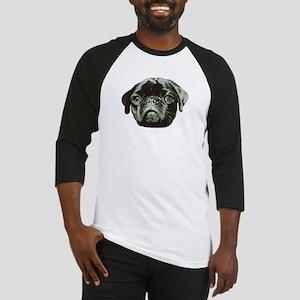 Black Pug Dog Baseball Jersey