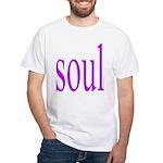 318. purple soul White T-Shirt