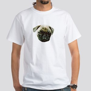 Pug Dog White T-Shirt
