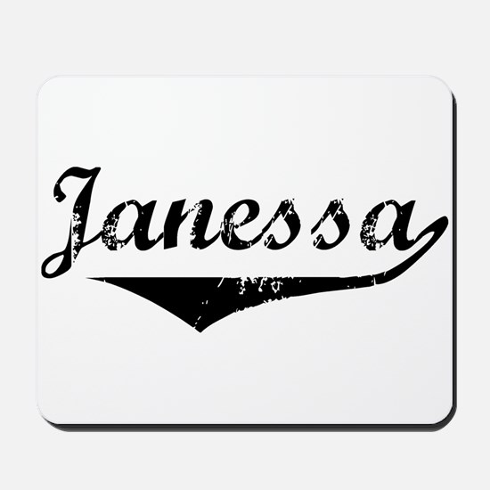 Janessa Vintage (Black) Mousepad