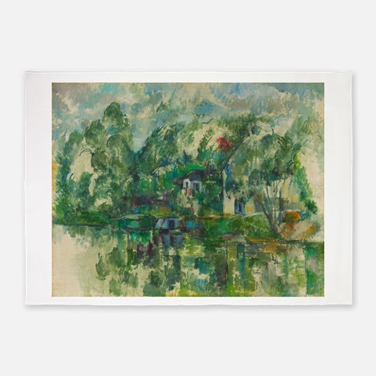 At the Water's Edge by Paul Cézanne 5'x7'Area Rug
