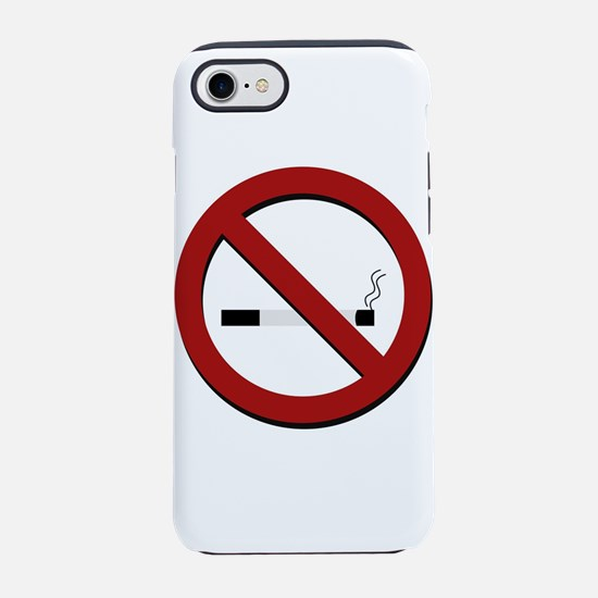 no smoking sign iPhone 8/7 Tough Case