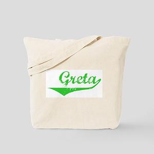 Greta Vintage (Green) Tote Bag