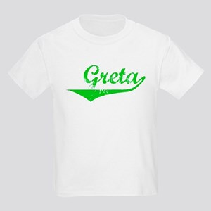 Greta Vintage (Green) Kids Light T-Shirt