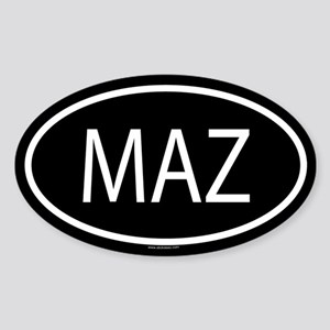 MAZ Oval Sticker