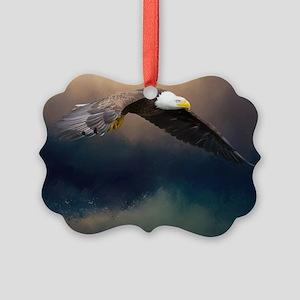 Flying american bald eagle Ornament