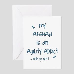 Afghan Agility Addict Greeting Card