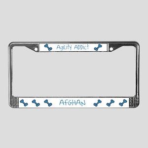 Afghan Agility Addict License Plate Frame