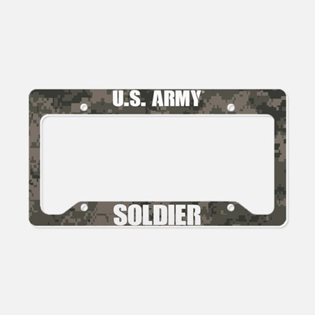 U.S . Army Soldier Camo License Plate Frame