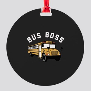 Bus Boss Round Ornament
