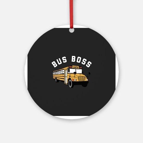 Bus Boss Round Ornament