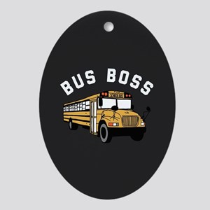 Bus Boss Oval Ornament