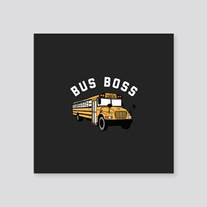 "Bus Boss Square Sticker 3"" x 3"""