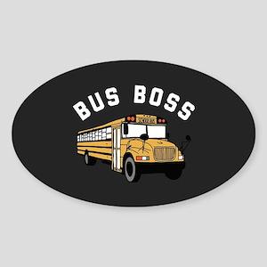 Bus Boss Sticker (Oval)