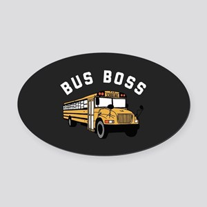 Bus Boss Oval Car Magnet