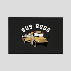 Bus Boss Rectangle Magnet