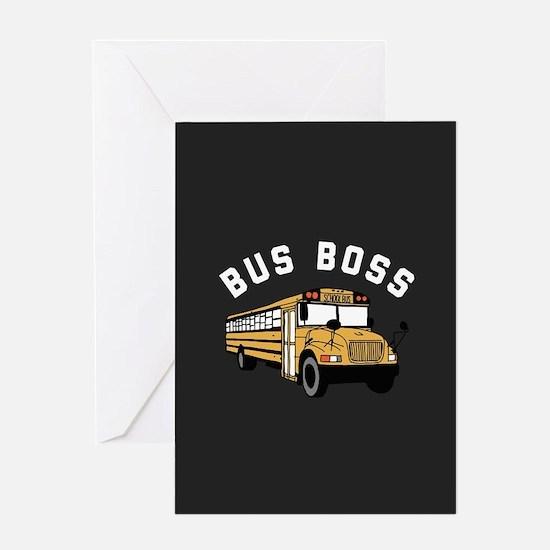 Bus Boss Greeting Card