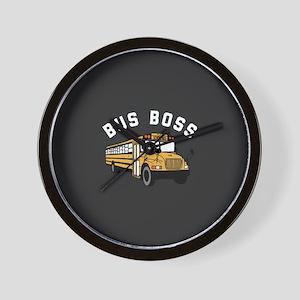 Bus Boss Wall Clock