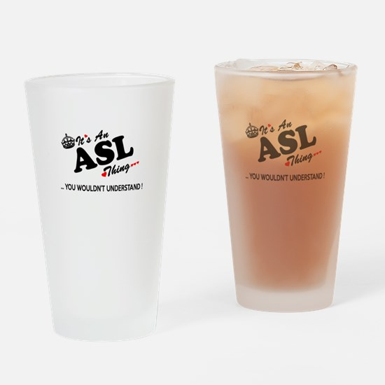 Cute Asl Drinking Glass