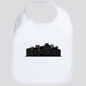 city skyline Baby Bib