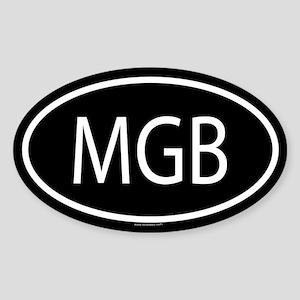MGB Oval Sticker