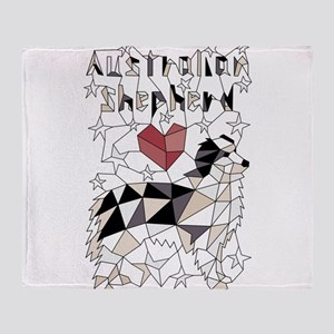 Geometric Australian Shepherd, Throw Blanket