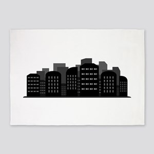 city skyline 5'x7'Area Rug
