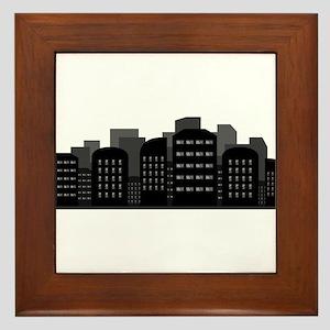 city skyline Framed Tile