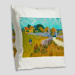 Farmhouse in Provence by Vincent van Gogh Burlap T