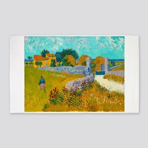 Farmhouse in Provence by Vincent van Gogh Area Rug