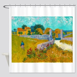 Farmhouse in Provence by Vincent van Gogh Shower C