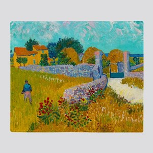 Farmhouse in Provence by Vincent van Gogh Throw Bl