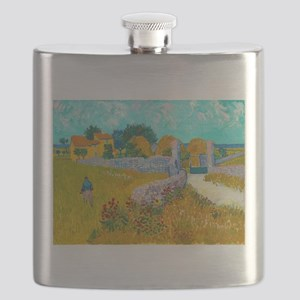Farmhouse in Provence by Vincent van Gogh Flask