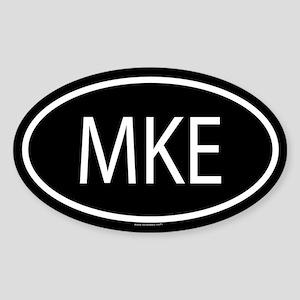 MKE Oval Sticker