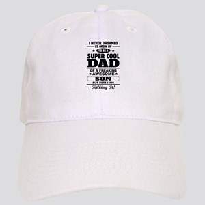 I Am With The Best Dad Ever Blue Blanket1799640966 Hats - CafePress 14dd0c7598c5