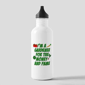 Gardener Money And Fame Water Bottle