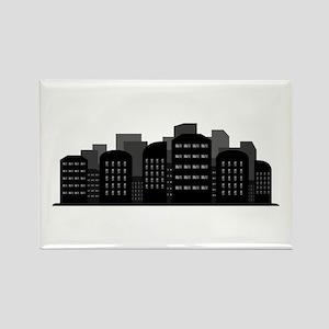 city skyline Magnets