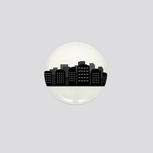 city skyline Mini Button