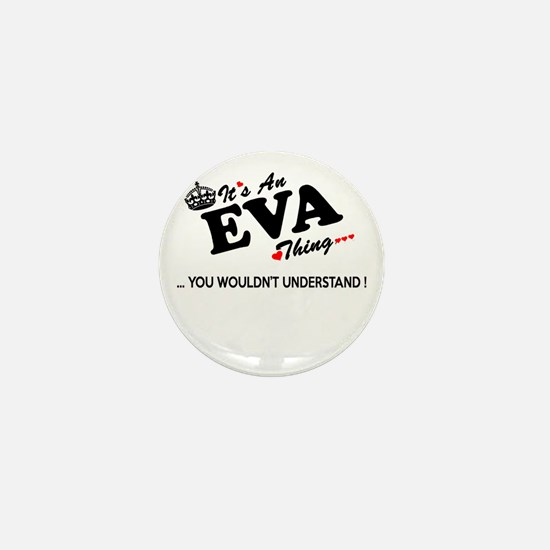 Funny Eva Mini Button