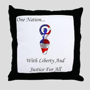 One Nation Goddess Throw Pillow